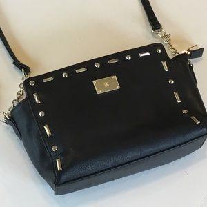 I. N. C.  NEW $80 Black Shoulder Bag w Gold Lining